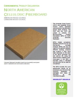 Cellulosic Fiberboard