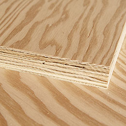 corner of a plywood sheet showing thickness