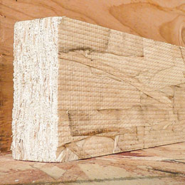 Oriented strand lumber block
