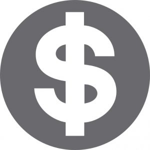 dollar sign in circle icon